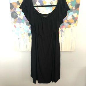 Lane Bryant Black Shoulder Dress